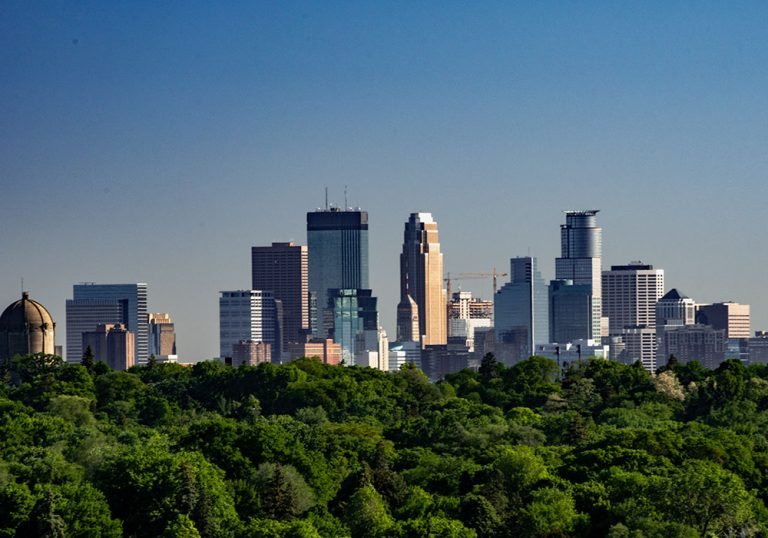 View of Downtown Minneapolis Skyline